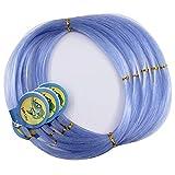 500M/547Yard Nylon Mono Line Monofilament Leader Line for Deep Sea Longline Fishing 0.3-2mm 13-400LB