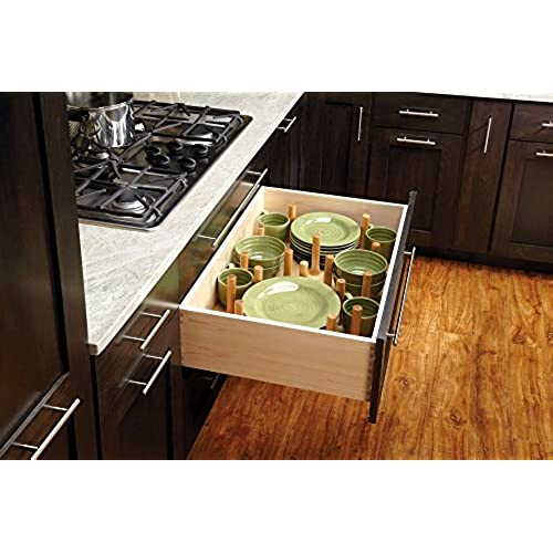 Rev a shelf 4dps 3921 large cabinet drawer peg system insert with wood pegs