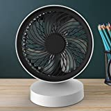 MangGou Mini USB Desktop Table Fan, Portable Quiet Small USB Fan with Handle for Office Home or Traveling (White)