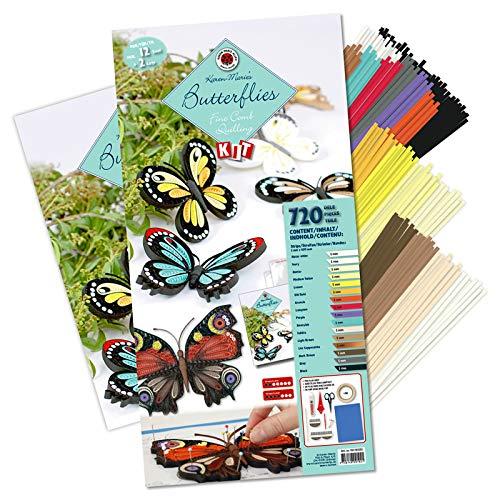 Karen Marie Klip: Butterflies Fine Comb & Pen Kit, 720 Pieces