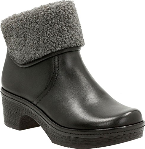 CLARKS Women's Preslet Pierce Black Leather Boot 9 B (M) uPpnw6kO