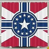 BINGO FLAG Funny Fabric Shower Curtain Flag Of The American Waterproof Bathroom Decor With Hooks 60 X 72 Inch