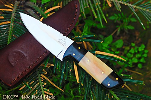 DKC-520-440c-TETON-440c-Stainless-Steel-Tanto-Bowie-Hunting-Handmade-Knife-Fixed-Blade-56-oz-775-Long