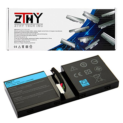 ZTHY 2F8K3 Laptop Battery Replacement for Dell Alienware 17 17X M17X-R5 Alienware 18 18X M18X-R3 Series 02F8K3 KJ2PX 0KJ2PX G33TT 0G33TT 14.8V 86WH