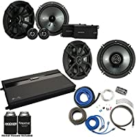 Kicker 43CSS654 6.5 Component Speakers, 43CSC654 6.5 Speakers. MB Quart ZA2-1600.4 4-Channel Amp & Wire Kit