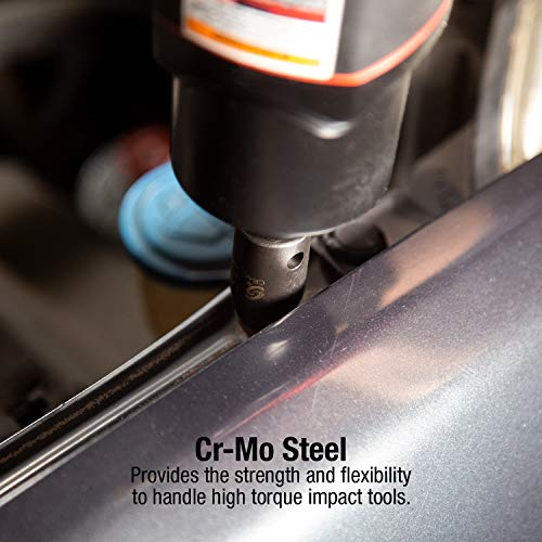 Sunex 2645, 1/2 Inch Drive Impact Socket Set, 26-Piece, Metric, 10mm-36mm, Cr-Mo Alloy Steel, Radius Corner Design, Heavy Duty Storage Case by Sunex Tools (Image #3)
