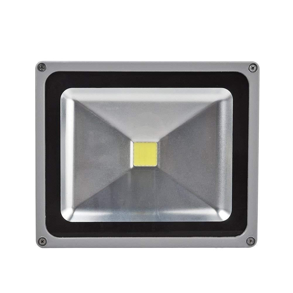 Strahler Aluminium IP65 Wasserdicht f/ür Garten Sportplatz oder Hotel 2er 50W LED Fluter mit Stativ H/öhenverstellbar Kaltwei/ß