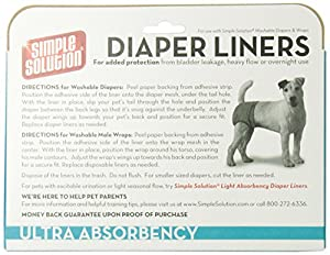 Simple Solution Diaper Liners Ultra Absorbency, 10-Pack by Bramton Company