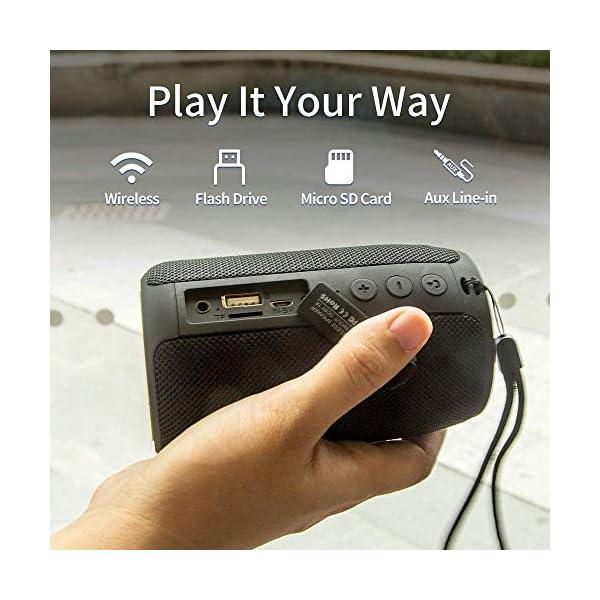 Enceinte Bluetooth Portable, Mini Haut-Parleur Bluetooth Enceinte Portable sans Fil, avec Universel Support, Compatible Android iOS et Autres Appareil, Noir 2