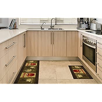 Amazon.Com: Anti-Bacterial Rubber Back Home And Kitchen Rugs Non
