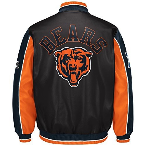 G-III Sports Chicago Bears Leather Legend Faux Leather PVC Jacket Chicago Bears Jacket