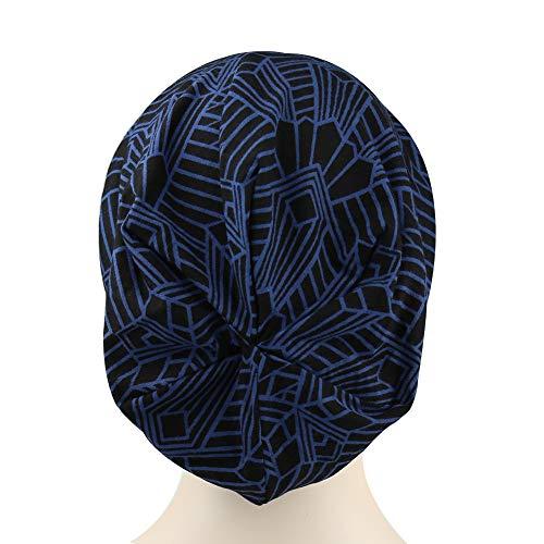 Cosy con Suave Alnorm Slouchy Banda Azul para Marino Forrado Mujeres Gorro Y Patrón Satinado Hombres Elástica XHBHgd