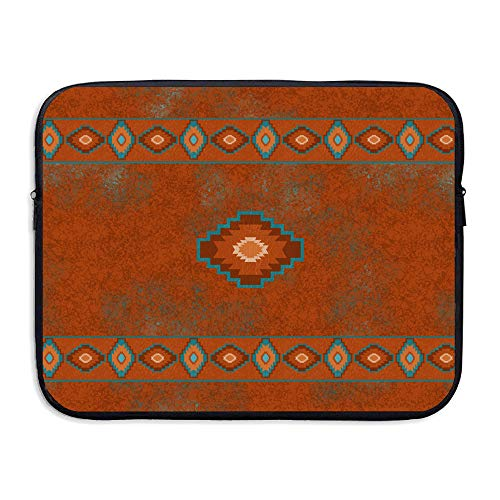 Summer Moon Fire Red Western Southwest Canyons Diamond Santa Tribal Native Desert Laptop Sleeve Case Bag Cover for 13-15 Inch Notebook Computer -