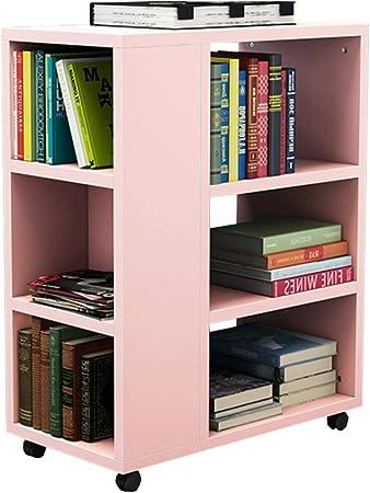 Estante para libros Chunlan Librería de Madera - Móvil - La Mesa Auxiliar del sofá de la Sala de Estar - 29 * 55 * 70 cm - 6 Colores (Color : F): Amazon.es: Hogar