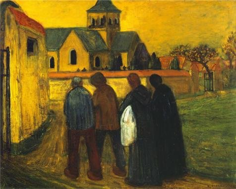 The Perfect Effect Canvas Of Oil Painting 'On Their Way To The Church For The Christening By Albert Servaes' ,size: 16x20 Inch / 41x51 Cm ,this Beautiful Art Decorative Canvas Prints Is Fit For Bar Decoration And Home Decor And Gifts