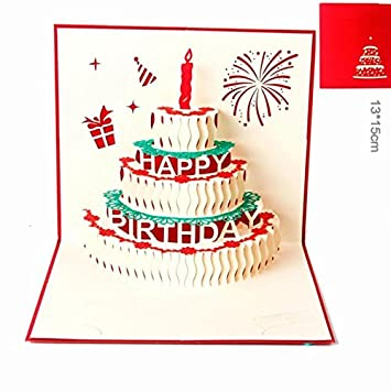 Atommy 3d Kuchenform Grusskarte Segne Postkarte Geburtstagskarte