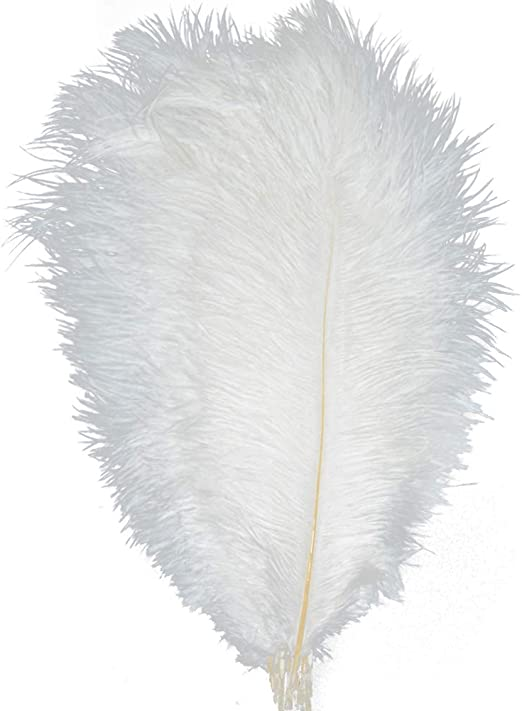 white 12-14 inches Wholesale Beautiful ostrich feathers black 30-35 cm