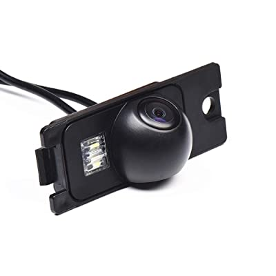 Night Version Backup Camera, Waterproof Rear-View License Plate Rear Reverse Parking Camera for Volvo SL40 SL80 XC60 XC90 S40 S80 C70 V40 V50 v60 S60L C30 S40/XC70 (Model A=Clip+Screw Tyle): Car Electronics
