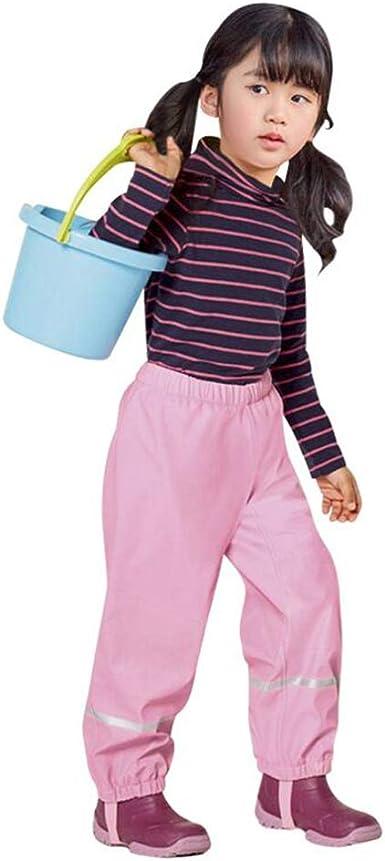 Pantalones Impermeables Para Ninos Ninas Unisex Pantalon De Lluvia Vellon Pantalon De Agua Impermeable Prueba De Viento Pink 122 128 Amazon Es Ropa Y Accesorios
