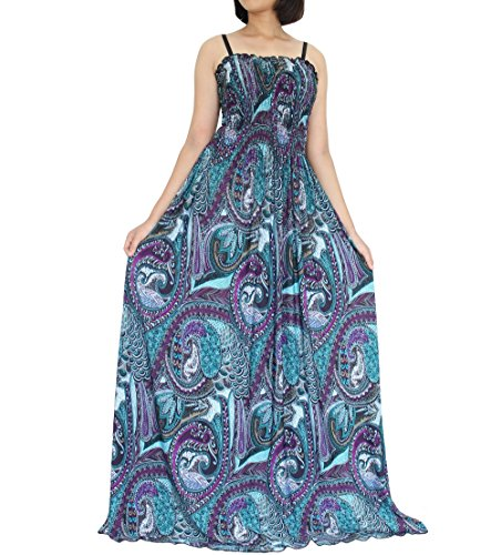 Informal Bridesmaid Dresses (The WomenLand Women Plus Size Maxi Long Dress Party Summer Holiday Beach Boho Strapy Dresses (XL))