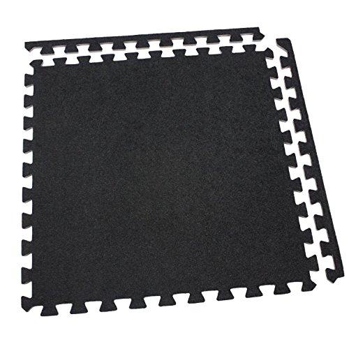 Incstores Eco-Soft Carpet Foam Tiles (25 Tiles, Black) Portable Trade Show Flooring, Exercise Mats & Light Duty Carpet Top Gym Flooring