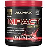 Allmax Impact Igniter Pre-Workout, Fruit Punch, 328g (20 Servings)