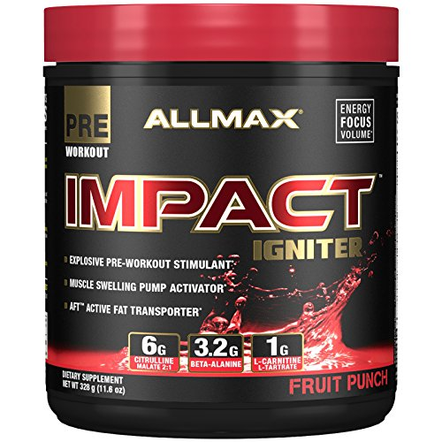 Allmax Impact Igniter Pre-Workout, Fruit Punch, 328g (20 Servings) by ALLMAX NUTRITION