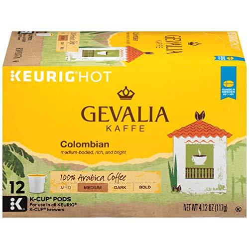 - Gevalia Colombia Medium Roast Keurig K Cup Coffee Pods (72 Count, 6 Boxes of 12)