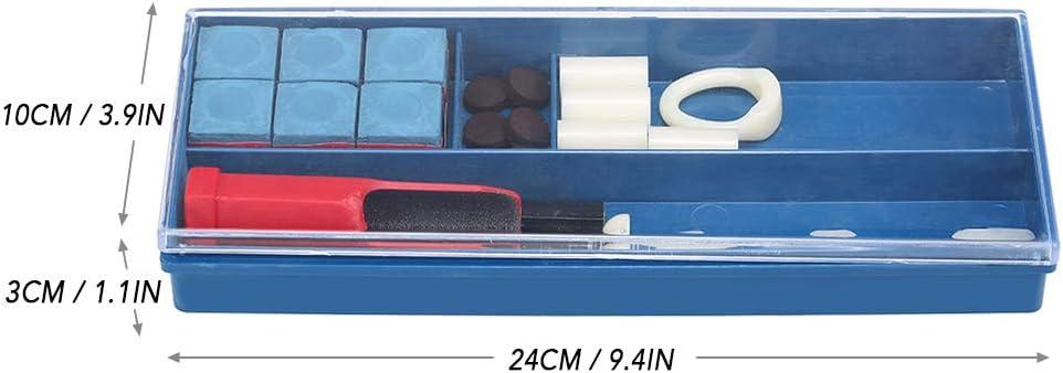 Explopur 20-IN-1-Billard-Reparatursatz Queuespitzen-Reparaturwerkzeug Billard-Kreide-Pool-Queuespitzen Queuespitzen-Zwingen Queuespitzenklemme Queuespitzen-Trimmer im Lieferumfang entha