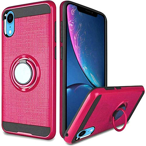 - [Hot Pink] iPhone XR (2018), Kickstand Case Magnetic Ring Stand 360 Degree Rotation Hybrid for Apple iPhone XR (2018)
