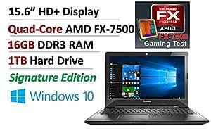 Lenovo Quad-Core AMD FX-7500 APU up to 3.30 GHz, 16GB DDR3, 1TB HDD, AMD Radeon R7, DVDRW, WLAN, Bluetooth, Windows 10