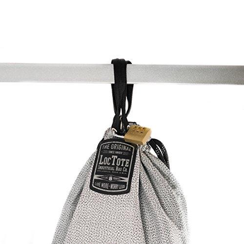 LOCTOTE Flak Sack SPORT - Lightweight Theft-Resistant Drawstring Backpack | Lockable | Slash-Resistant | Portable Safe by LOCTOTE (Image #3)