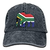 SUN ROSE Elephant South Africa Flag Adult Fashion Dad Hat Denim Baseball Cap Trucker Hat
