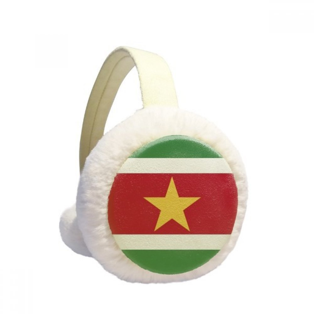 Suriname National Flag South America Country Winter Earmuffs Ear Warmers Faux Fur Foldable Plush Outdoor Gift