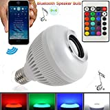 Genolite Wireless 12W LED RGB Color Bulb Lamp E27 Bluetooth Control Music Speaker Lamps