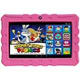 """EPIK Learning Tab, 7"""" Kids Touchscreen Tablet Featuring Android 5.1 OS, Looney Tunes Phonics, 16GB Intel Quad Core Processor KidSAFE Certified - Pink"""