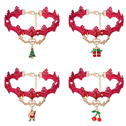 iWenSheng Velvet Necklace Christmas Holiday