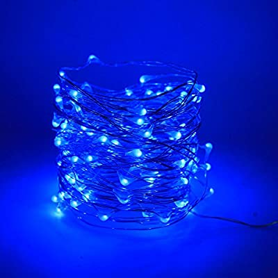 Le Zoey Battery Fairy Lights 33Fft 100leds 8 Modes Waterproof Battery Powered Led Starry String Lights With Remote Control Indoor and Outdoor Xmas Party Home Decoration
