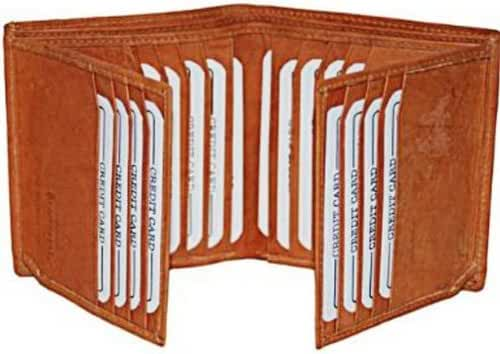 Bifold Business Credit Card Case Leather Wallet #2192CF