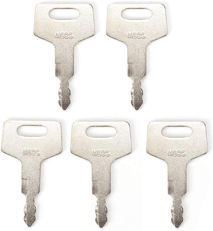 Baqi H806 Schlüssel Ersatz Zündschlüssel Für Takeuchi Bagger Und Schienenlader 5 Stück Auto