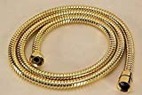 1.5m Stainless Steel Gold Shower Head Hose Pipe Bathroom Shower Hoses with 1/2
