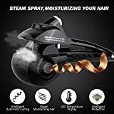 Automatic Hair Steam Curler ARINO Ceramic Hair Curler Professional Curling Iron Wand Ceramic Curling Flexible Hair Curlers Machine for Beautiful Hair Style & Shine, LED Digital Display Black