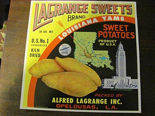 LaGrange Louisiana sweet potato crate label, vintage, 40s/50s