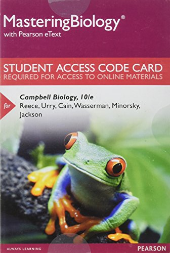 Mastering Biology with Pearson eText -- Standalone Access Card -- for Campbell Biology