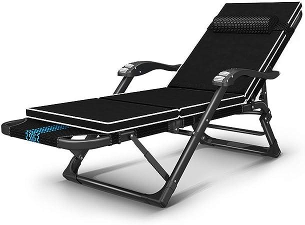 Sillón reclinable Hamaca plegable que acampa ajustable y silla del ocio de descanso de jardín Tumbona con reposacabezas desmontable + Toallita de algodón Catre (color: Silla) (Color : Chair+mat) : Amazon.es: Hogar