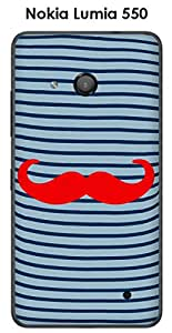 Onozo Carcasa Nokia Lumia 550marinero bigote–1rojo Intense