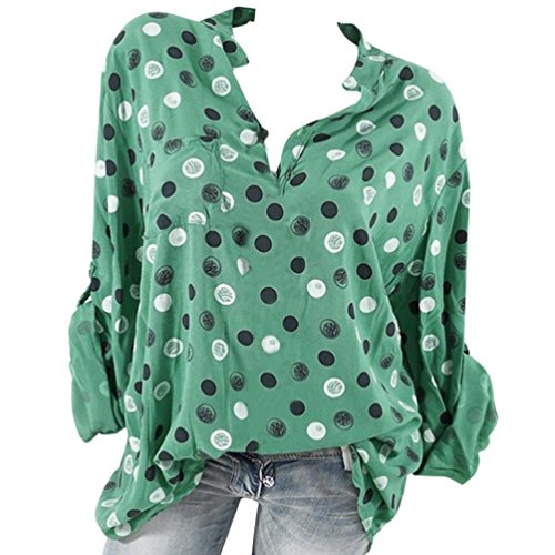 Courtes V Vert Femme Dcontract Militaire DAYLIN Solid Chemisier Manches Col Top n0xwqBXz