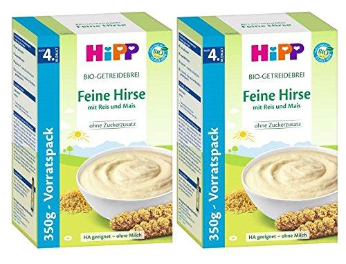 Hipp gachas de mijo fino, Paquete 2er (2 x 350 g)