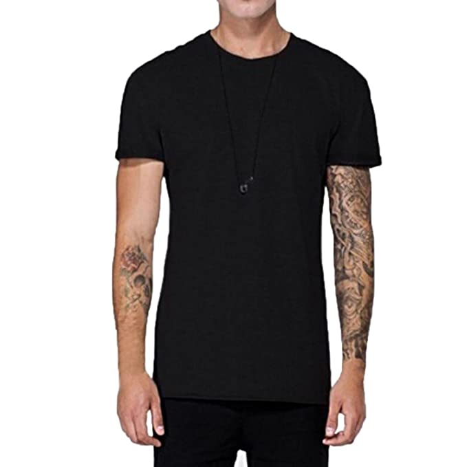 Hombre Camiseta Blusa Verano Tops Manga Corta Traje de Calle Urbano,Sonnena Moda Hombres de la Personalidad de ala Casual de Manga Corta Camisa Blusa Citas ...