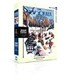 New York Puzzle Company - New Yorker Sledding in The Park - 500 Piece Jigsaw Puzzle